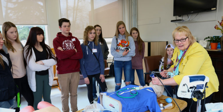 High school students visit hospital for unique, immersive program