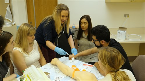 Kori Irving, an RN at the Swan Hills Healthcare Centre, taught IV Starts.