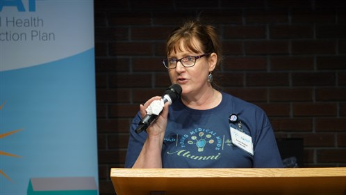 Susan Nichol, Chris's spouse was one of the speakers at the award presentation.